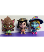 Netflix Super Monsters Lobo Katya Cleo Werewolf Witch Mummy Vinyl Figures - $15.83