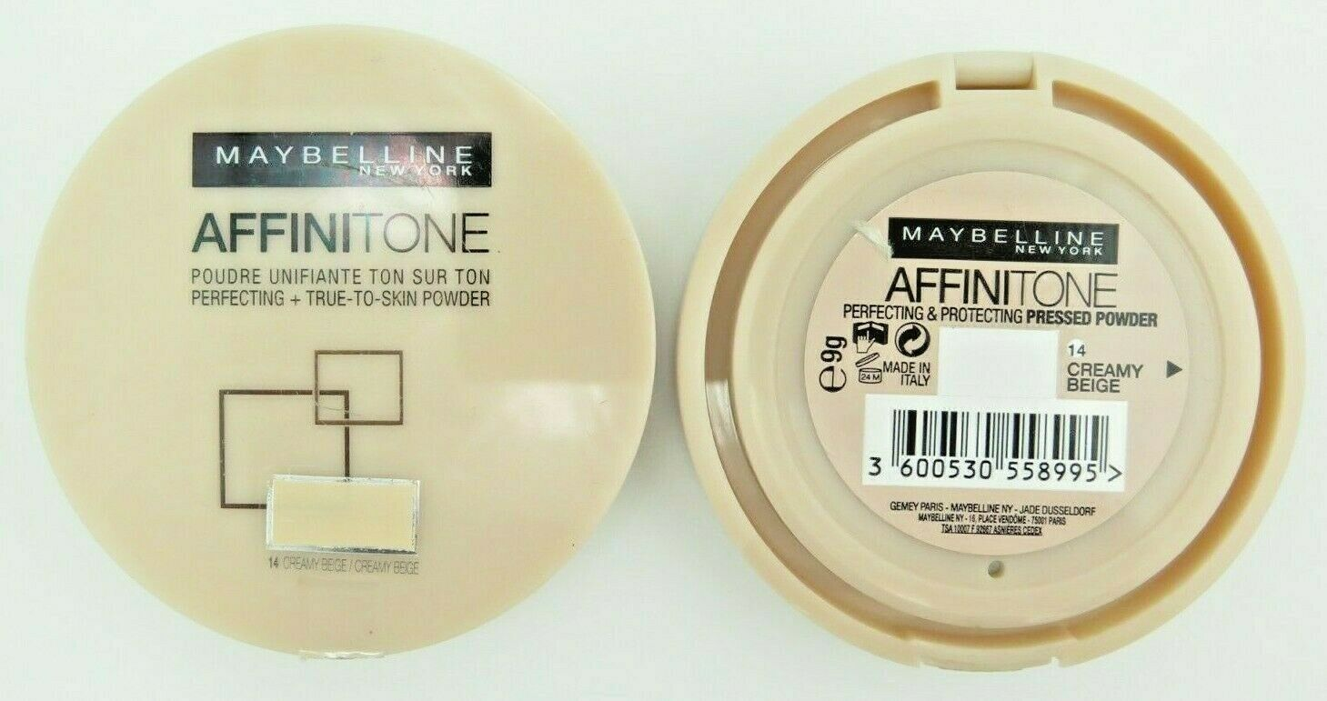 Primary image for Maybelline Affinitone Pressed Powder - 14 Creamy Beige *Twin Pack*