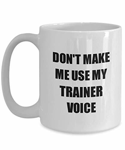 Primary image for Trainer Mug Coworker Gift Idea Funny Gag for Job Coffee Tea Cup 15 oz