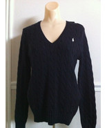 RALPH LAUREN SPORT CABLE KNIT V NECK SWEATER-BNWT!! - $44.55