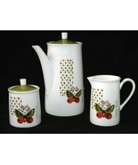 Georges Briard Coffee Pot Set Sugar Creamer  Briard Butterfly Set BRR17 MCM - £39.28 GBP