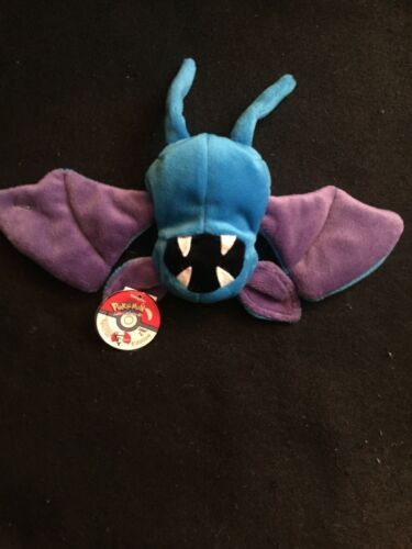 NEW! 1998 applause kfc ninendo pokemon zubat blue bat plush bean bag