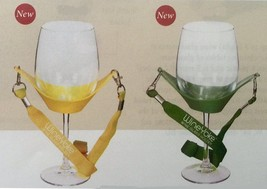 WineYoke Party Time Hand Free Wine Glass Holder Necklace Set of 2: GREEN and YEL - $12.86
