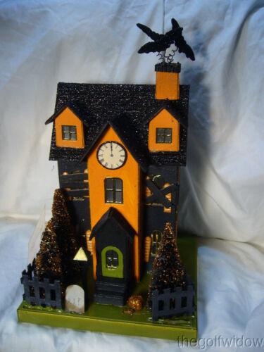 Bethany Lowe Halloween Haunted House with Light