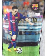 FC Barcelona: FCB OFFICIAL PRODUCT SHIRT: MESSI  #10  Large - $24.75