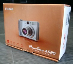 CANON PowerShot A520 4x Zoom 4MP Digital CAMERA with Contents Box - $49.99