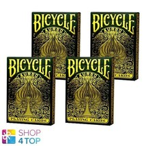 4 DECKS OF BICYCLE AUREO PLAYING CARDS MAGIC TRICK BY LEONARD DA VINCI NEW - $42.92