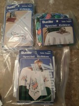 Set of 3 Bucilla Special Edition Craft Kits 2 Table Topper and Dresser S... - $24.70