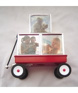 "Lenox ""Childhood Memories"" Red Wagon Bank with Silver Block Picture Frames - £19.08 GBP"