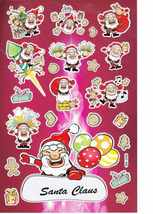 D397 Christmas Santa Claus Xmas Sticker Decal Kids Size 27x18 cm / 10x7 ... - $3.49