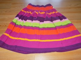Girl's Size 9 Gymboree Wild For Zebra Striped Skirt Orange Green Burgund... - $14.00