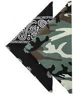 Levi's Men's Printed Bandana Set,Green/Black,One Size - $12.88