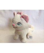 "Disney Store The Aristocats Marie White Pink Bow 12"" Kitty Cat Plush Animal - $12.99"
