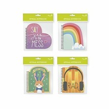 Spiral Bound Die-Cut Notebook Bundle of 4 Notepads - 60 Lined Pages Per ... - $8.79