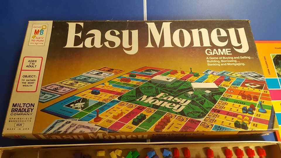 Board Game EASY MONEY Complete Milton Bradley Monopoly-type Banking 1974