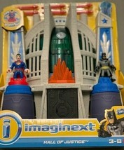 New Imaginext Fisher Price Hall of Justice DC Super Friends + Superman +... - $29.39