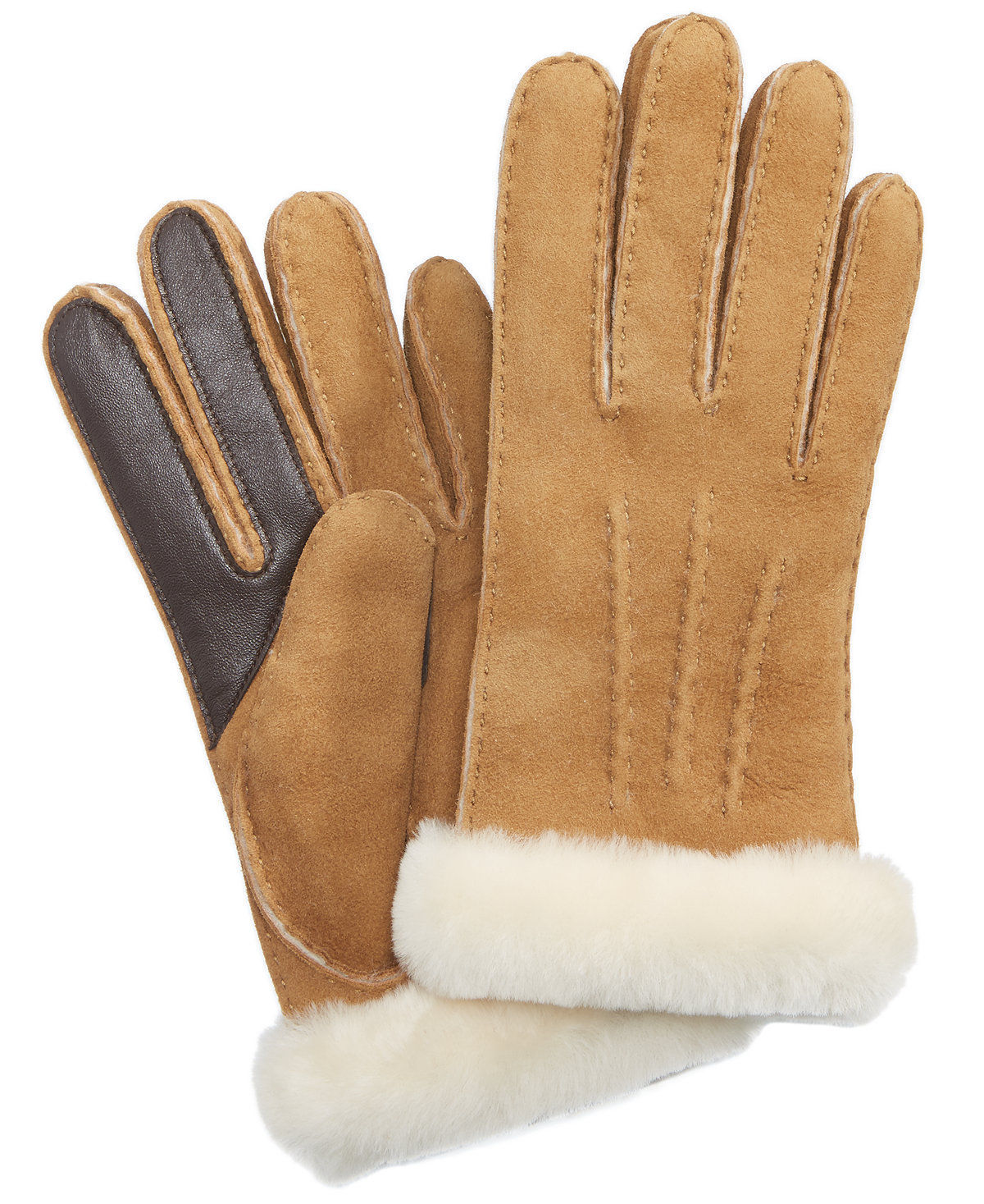 UGG Womens Sheepskin Carter Tech Glove in Chestnut [16132]