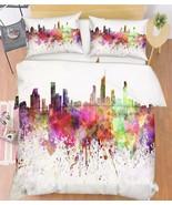 3D Graffiti City Bed Pillowcases Quilt Duvet Cover Set Single Queen King... - $64.32+
