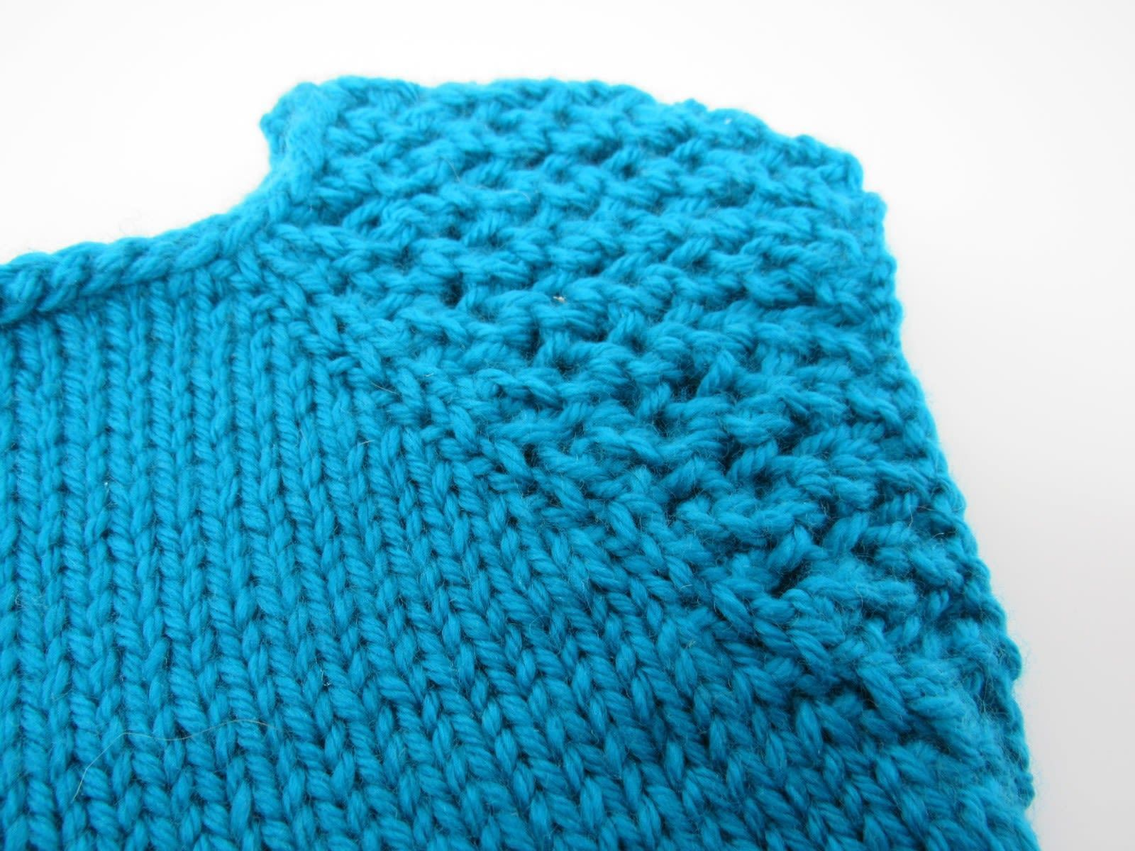 Handcrafted Knitted Sweater Teal Textured Lace Female Kids 6-8