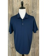 "Nike Golf Polo Shirt Men's XL ""Fit-Dry"" Navy Blue 100% Polyester #128898... - $19.79"