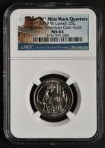 2019W LOWELL QUARTER 25¢ GREAT AMERICAN COIN HUNT NGC MS64 SKU C124