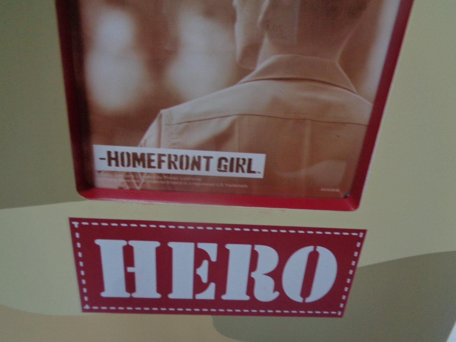 REAL ACTION HERO Homefront Girl Wood Photo Frame NWT 4 x 4 photo Khaki Camo