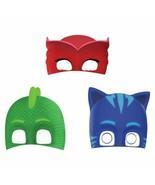 PJ Masks Paper Birthday Party Masks 8 Ct - $5.93