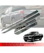 Chrome Side Door Body Fender Trim For 2 Door Mitsubishi L200 Triton 2019... - $90.38