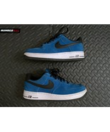 2014 Nike Air Force 1 Military Blue Size 7.5 Suede Shoes Sneakers 488298... - $89.09