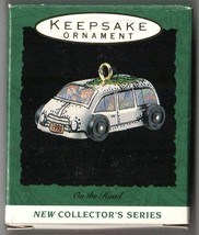 Hallmark Keepsake Miniature Ornament 1993 On the Road Cars Tin #1 in Series - $7.75