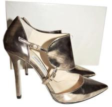 $895 Jimmy Choo HEATH Pointy Toe Pump Gold D'orsay Sandals Shoe 36.5   - $339.91