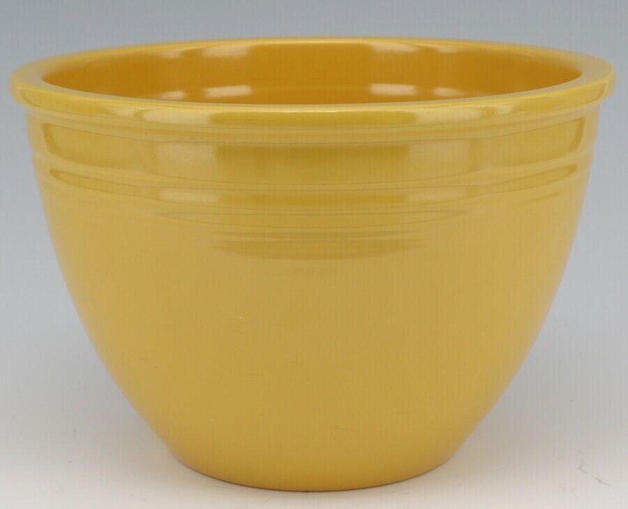 Vintage Original Fiesta #4 Yellow Mixing Bowl No Bottom Rings - EX Condition