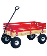 "40"" HEAVY DUTY WAGON - 10"" Tires 1000lb Capacity Cart Red Green Pink Blu... - $274.37"