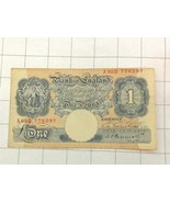 Bank Of England 1 One Pound Bank Note - $50.00