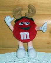 "M & M's Candy 8"" Red Poseable Plush Wearing Deer Reindeer Antlers - $6.39"