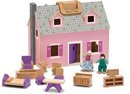 Melissa and Doug Fold and Go Wooden Dollhouse - $54.99