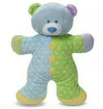 "NWT Baby Ganz Snuggles Puppy Plush Rattle Blue Green Dots 13"" - $46.71"
