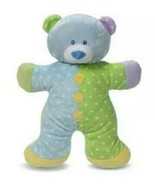 """NWT Baby Ganz Snuggles Puppy Plush Rattle Blue Green Dots 13"""" - $46.71"""