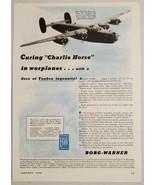 1944 Print Ad World War 2 Airplane B-24 Liberator Borg-Warner Hydraulic ... - $16.81