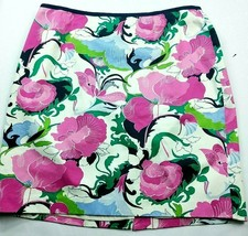 Talbots Womens A Line Petite Skirt Size 16WP Floral Pink White Blue Gree... - $24.75