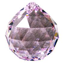 Swarvoski Strass Crystal 40mm Faceted Ball Prism  Rosaline image 1