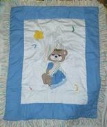 VINTAGE 1982 TEDDY BEDDY BEAR NURSERY CRIB BEDDING QUILT COMFORTER BED 4... - $73.87
