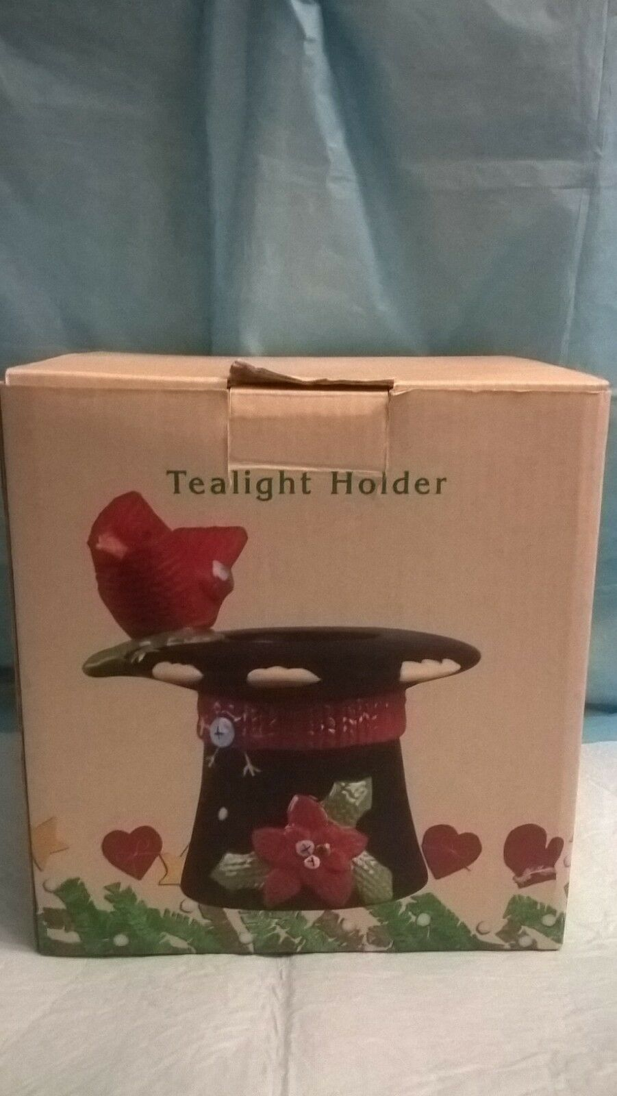Primary image for Cracker Barrel - Tealight Holder - Homespun  Cardinal