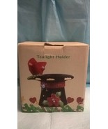 Cracker Barrel - Tealight Holder - Homespun  Cardinal - $24.74