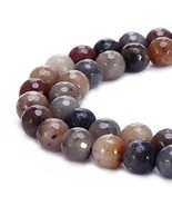 BRCbeads Natural Chinese Devil Jasper Gemstone Loose Beads Faceted Round... - $15.08