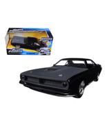 Lettys Plymouth Barracuda Matt Black Fast & Furious 7 Movie 1/24 Diecast... - $36.47