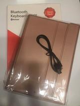 KuGi New iPad 9.7 Bluetooth Keyboard Case, 2018, Leather - Copper Colored - $7.99