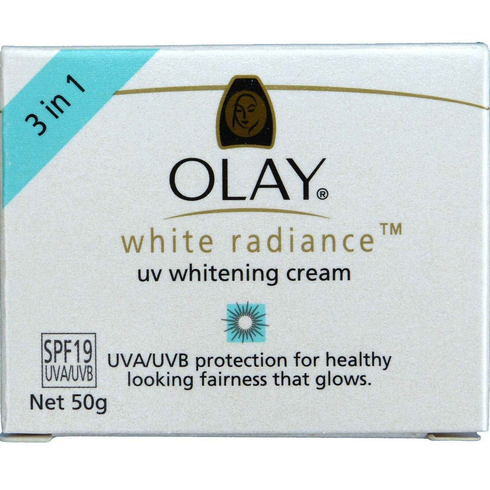 Olay White Radiance UV Whitening Cream SPF 19 Skin Whitening with Sunscreen 50g