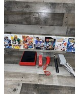 Nintendo Wii Mini Console (Red) And 8 Game Bundle - $102.85