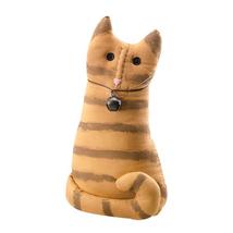 "farmhouse primitive country rustic orange fabric THOMAS CAT 12.5"" doll w... - $32.99"